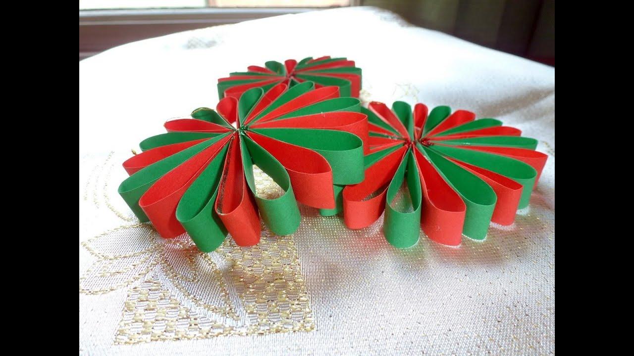 Елочные игрушки из бумаги своими руками для детей