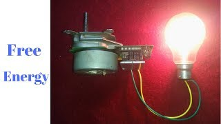 Make a Free Energy Generator from a Dead Printer Motors use Light Bulbs 100 watts 2017