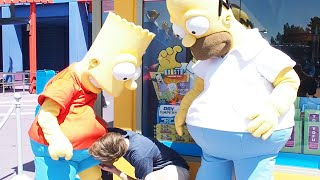 SIMPSONS THEME PARK! - (He
