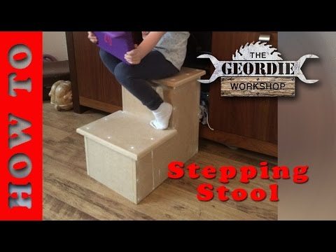 Two Step Stool With Handrail Woodworking Plans Free