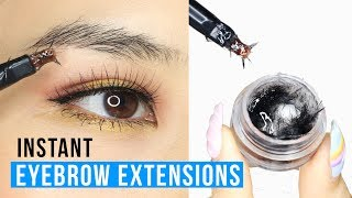 INSTANT EYEBROW EXTENSIONS! Tina Tries It