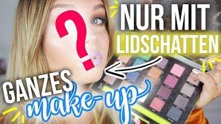 Ganzes Make-up NUR mit LIDSCHATTEN ? Geht das ?! 😱 | Dagi Bee