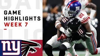 Giants vs. Falcons Week 7 Highlights   NFL 2018
