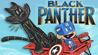 Black Panther in 8 Different Animated Cat Styles