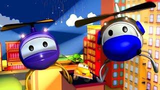 Tom der Abschleppwagen und Hector der Helikopter in Autopolis | Lastwagen Bau-Cartoon-Serie Kinder