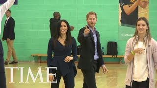 Meghan Markle And Prince Harry Were Total Sports At This Fun Gymnasium Event | TIME