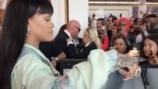 Rihanna working as a cashier at her FentyxPuma Store Lol