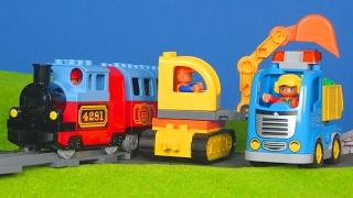 Bagger Züge Lastwagen Abschleppwagen Laster Spielzeugautos & Kran Kinderfilm | LEGO DUPLO für Kinder