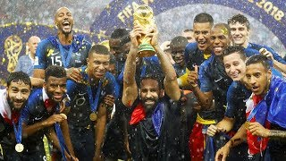 France celebrates World Cup win, Pussy Riot claims on-field protest