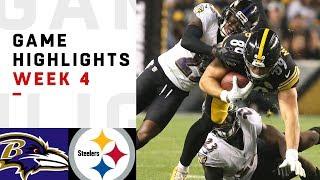 Ravens vs. Steelers Week 4 Highlights | NFL 2018