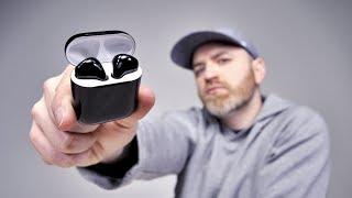 Black Apple AirPods 2 FINALLY!