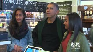 President Obama Goes Shopping With Malia & Sasha on Small Business Saturday!