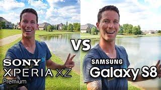 Samsung Galaxy S8 vs Sony Xperia XZ Premium!! CAMERA Test Comparison (4K)