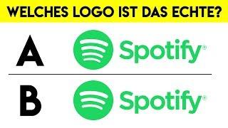 Nur 2 von 10 Menschen erkennen das RICHTIGE Logo!