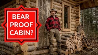 Insecurity at the Off Grid Cabin - Doors, Firewood and an Outhouse