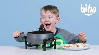 American Kids try Fondue
