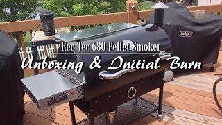 REC TEC Wood Pellet Grill (RT-680) Unboxing & Initial Burn