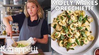 Molly Makes Orecchiette with Buttermilk, Peas and Pistachios | From the Test Kitchen | Bon Appétit