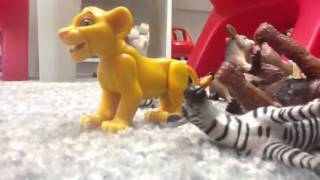 The lion king and the stampede