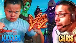 1V1 9 YEAR OLD BROTHER VS PRO PLAYER (CHRIS) FORTNITE PLAYGROUND! *THE UNEXPECTED HAPPENS!!!* OMG
