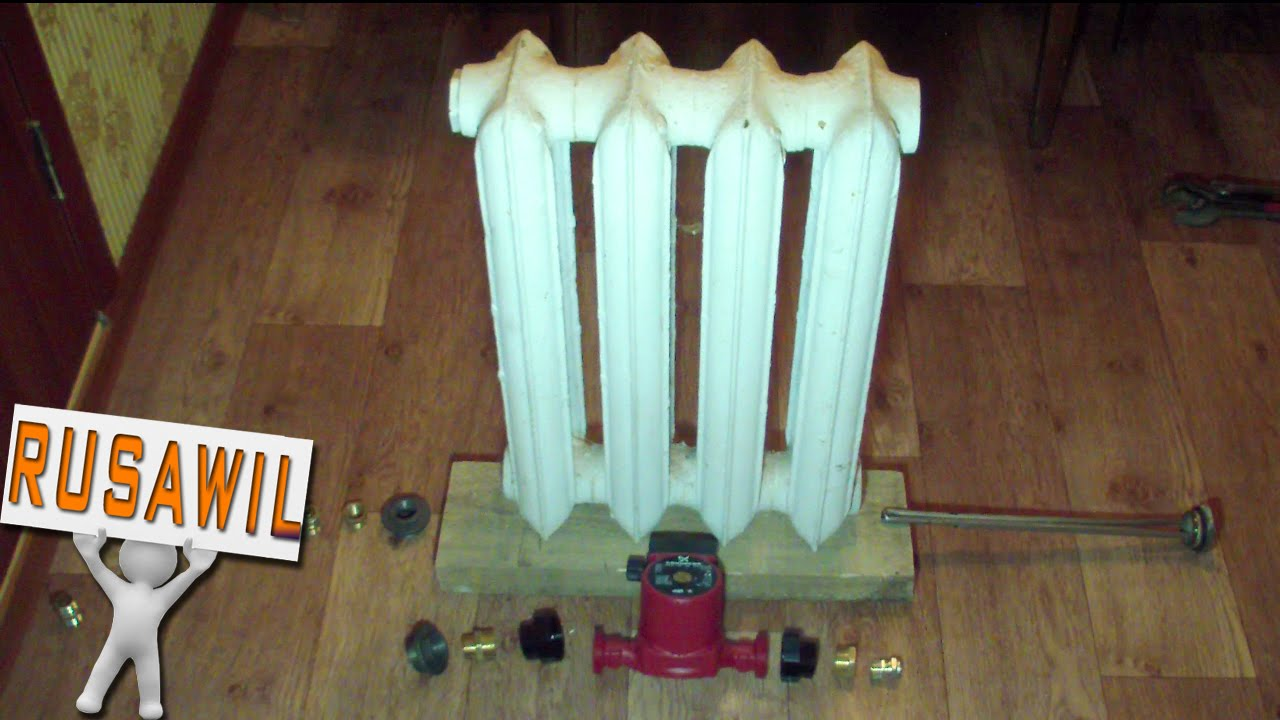 Смотреть видео сделать отопление своими руками