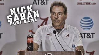 Watch Nick Saban address the media following win against Colorado State