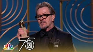 Gary Oldman Wins Best Actor in a Drama at the 2018 Golden Globes