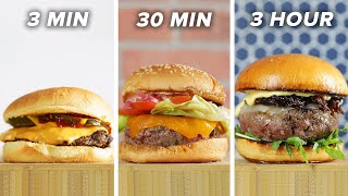 3-Minute Vs. 30-Minute Vs. 3-Hour Burger