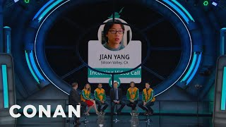 "The Cast Of ""Silicon Valley"" Gets A Conference Call From Jian Yang  - CONAN on TBS"