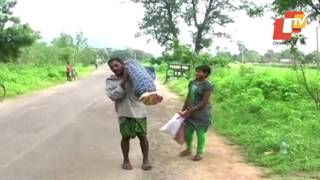 Man carries wife