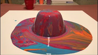 Fluid Painting Dirty Pour Flip Cup x2!! Acrylic Pour Painting. Please Share and Subscribe!!