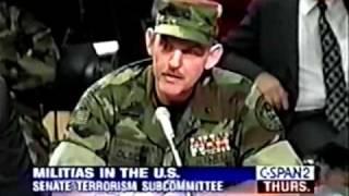 Senate Terrorism Subcommittee American Militia 1995 4/10