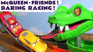 Disney Cars Toys McQueen Cars 3 daring racing with Hot Wheels Avengers Car and funny Funlings TT4U