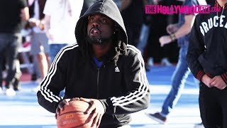 Wale Plays In The Chacha The Wave Vs. Jamie Foxx Celebrity Basketball Game 2.17.18