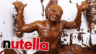 Filled My Bathtub With Nutella!