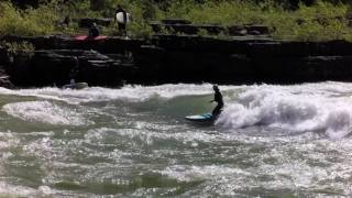 SUP river surfing Lunch Counter, Wyoming