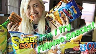 I TRY FILIPINO SNACKS