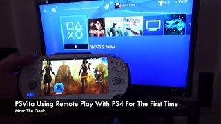 PSVita Using Remote Play With PS4 For The First Time