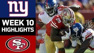 Giants vs. 49ers | NFL Week 10 Game Highlights