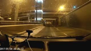 Poślizg po wyjeździe z tunelu ul. Piłsudskiego Łódź