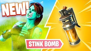 NEW FORTNITE UPDATE!! *STINK BOMB GAMEPLAY*  (Fortnite Battle Royale)