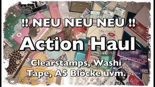 XL Action Haul (deutsch) neue Blöcke, neues Washi Tape, neue Clearstamps, DIY, Scrapbook