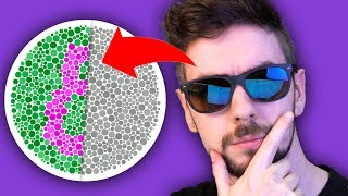 Taking A Colour Blind Test With Colour Blind Glasses