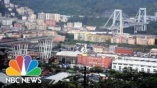Drivers Killed As Highway Overpass Collapses In Italy | NBC News