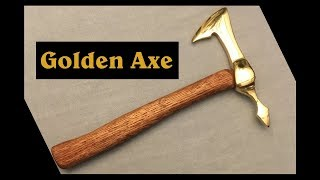 Golden Tomahawk Made from Aluminum Pans and Copper Wire