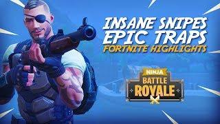 Insane Snipes Epic Traps!! - Fortnite Battle Royale Highlights - Ninja