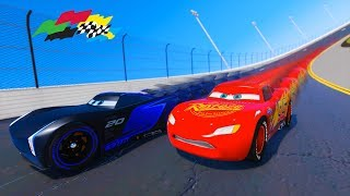 Lightning McQueen VS Jackson Storm Race Cars 3 Daytona and Friends Videos for kids & Songs