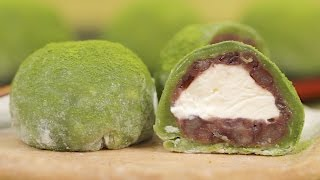 Matcha Cream Daifuku (Green Tea Mochi Dessert Recipe) | Cooking with Dog