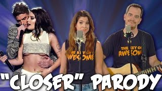"""Chainsmokers """"Closer"""" Parody! The Key of Awesome UNPLUGGED!"""
