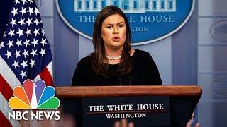 White House Press Briefing - August 14, 2018 | NBC News